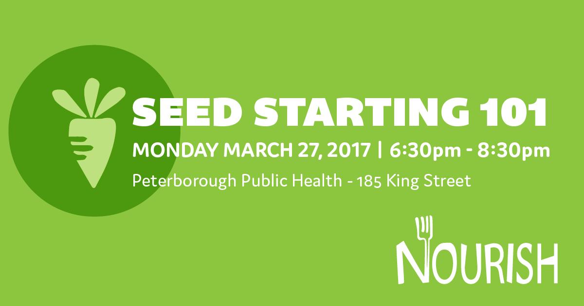 Seed Starting 101 workshop poster