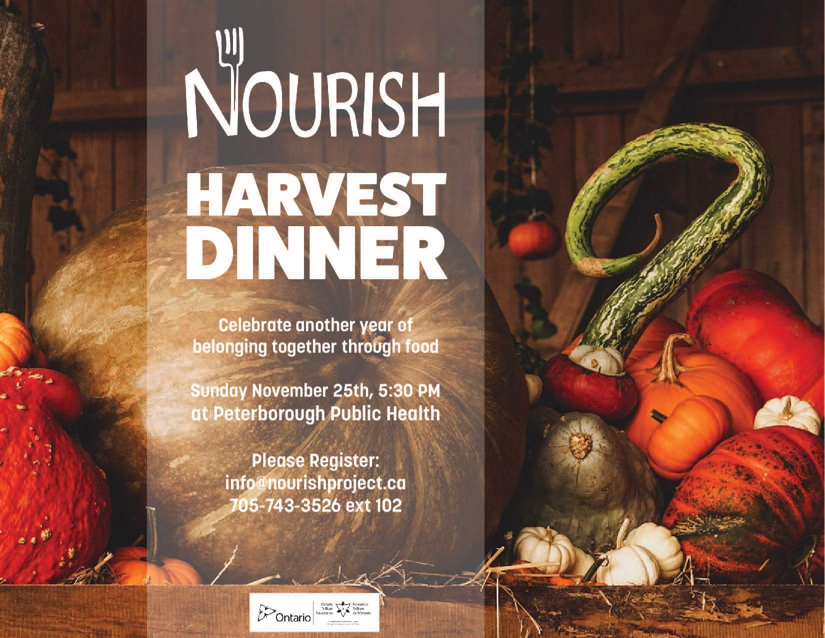 Harvest Dinner Poster