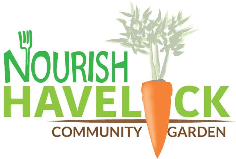 Nourish Havelock community garden logo
