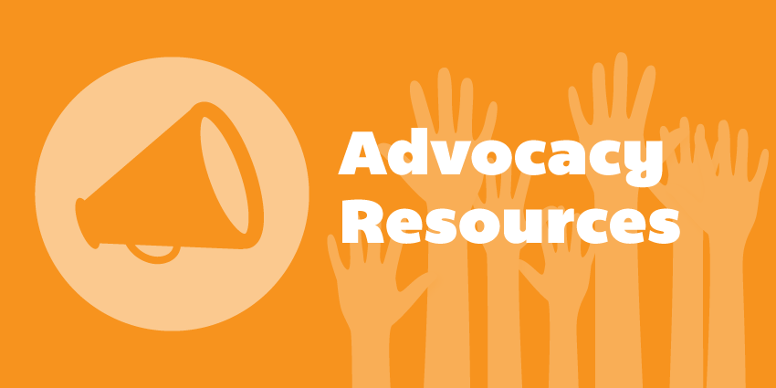 Advocacy resources button