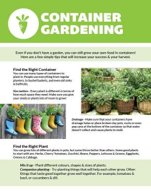 Container gardening front page