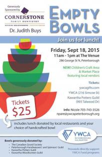 Event poster promoting empty bowls