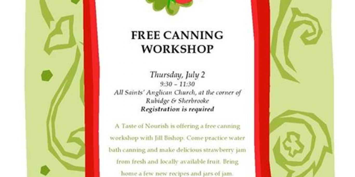 Canning workshop poster