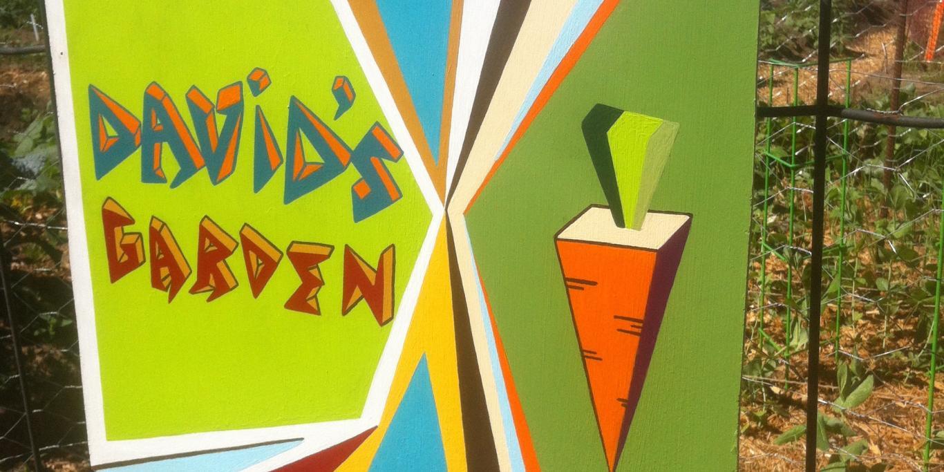 david's garden sign