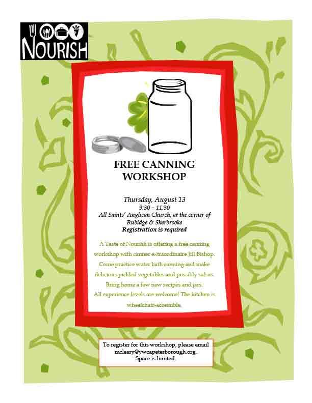 Canning workshop poster