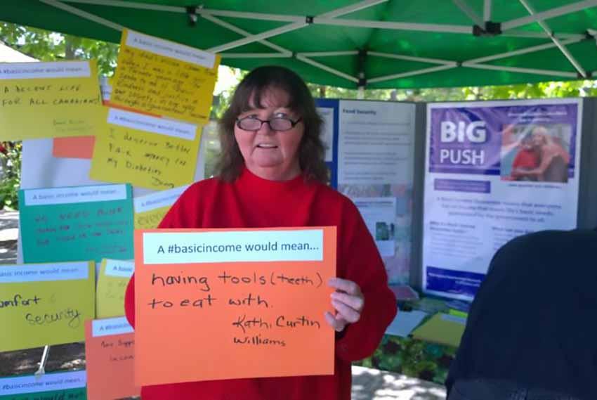 Basic Income campaign participant