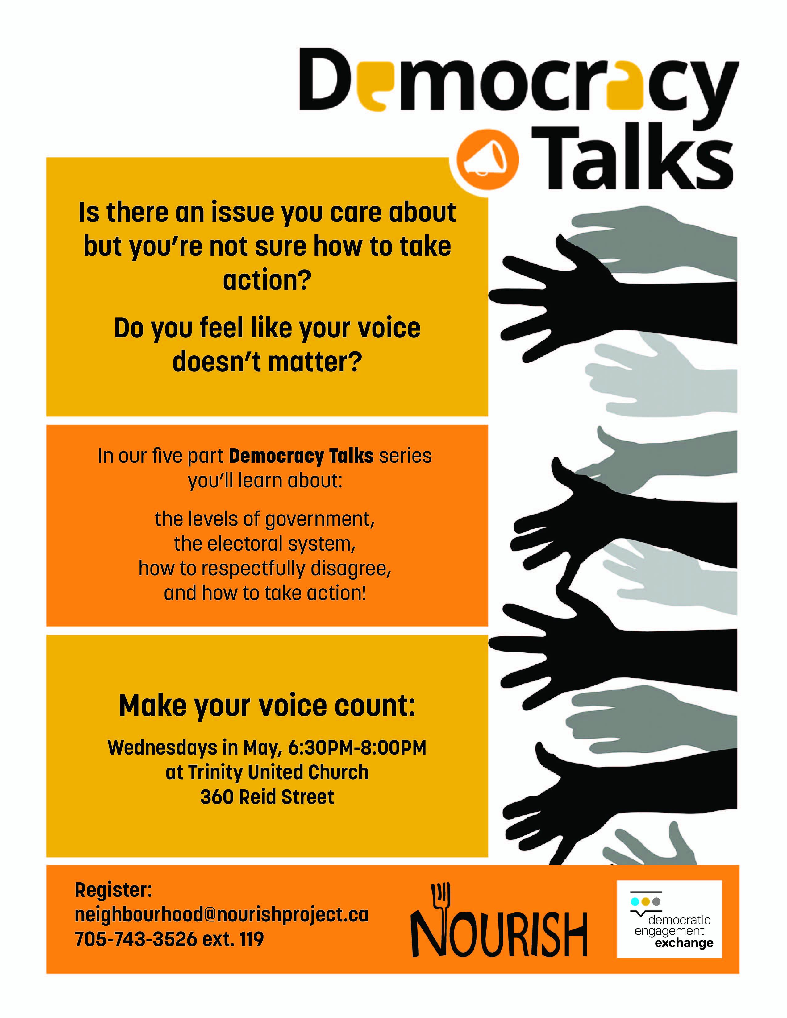 Democracy Talks - Evenings at Trinity United Church