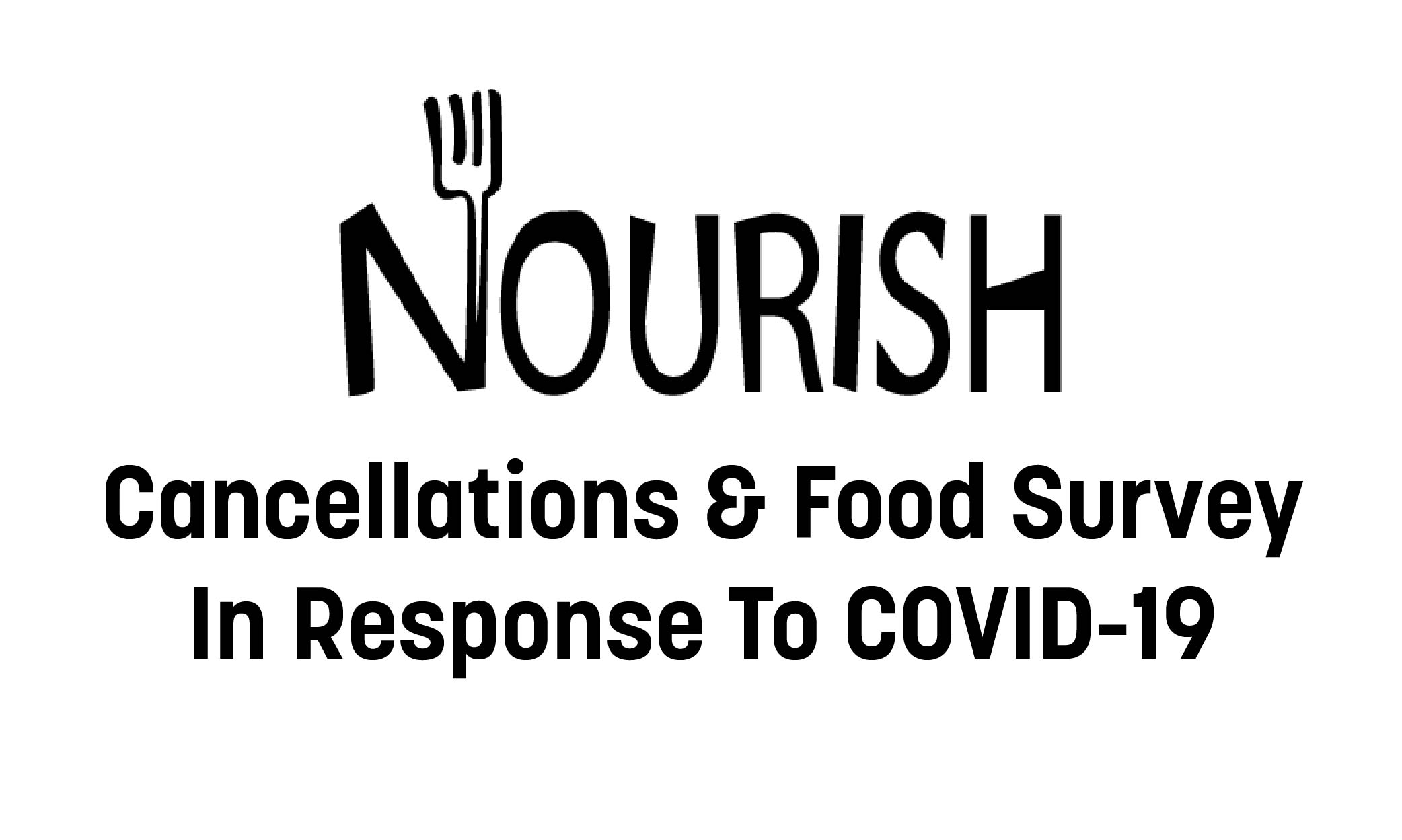 Nourish Cancellations and Food Survey in Response to COVID-19