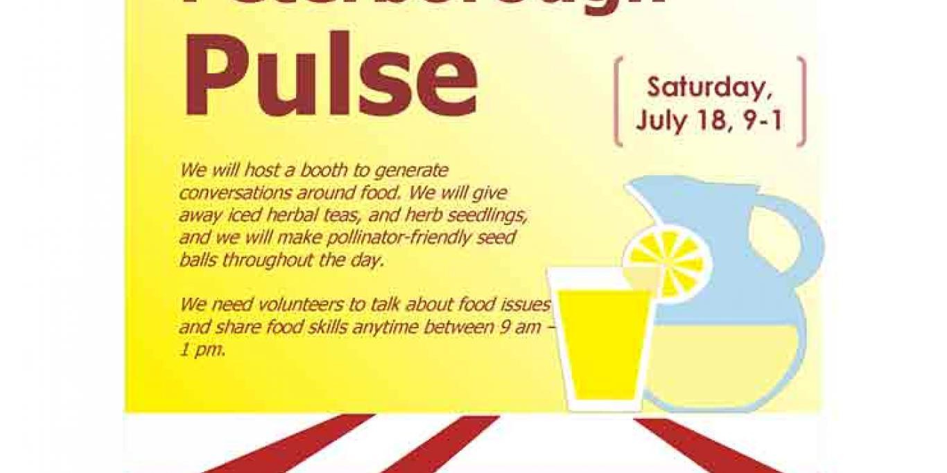 Nourish poster for Peterborough Pulse