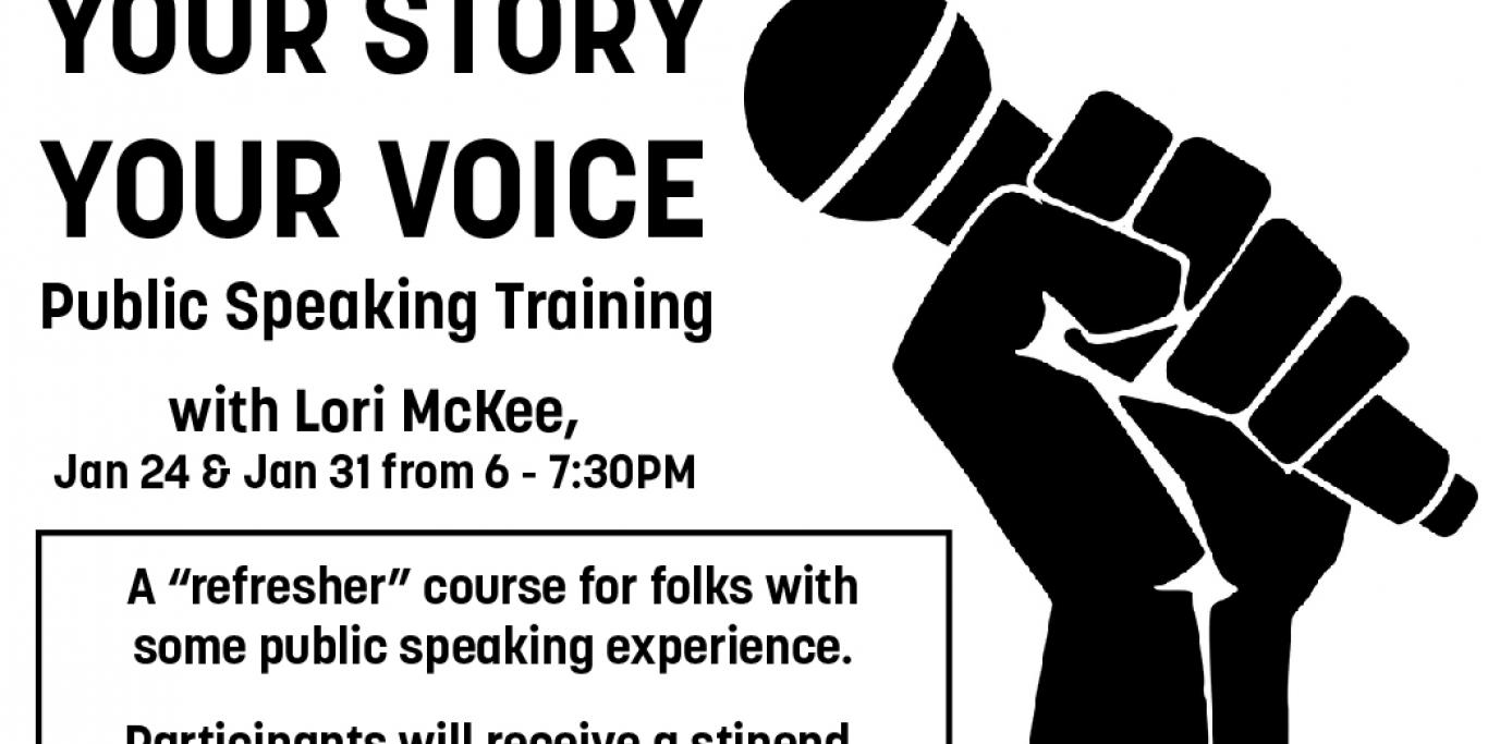 Your Story Your Voice Public Speaking Training with Lori McKee