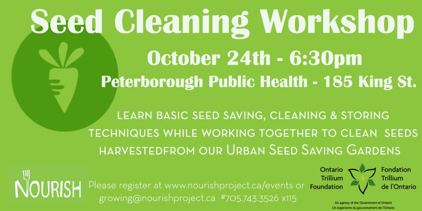seed cleaning workshop