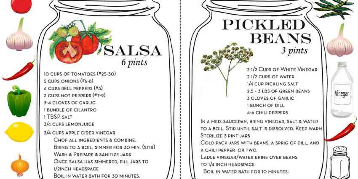 canning pamphlet - recipes